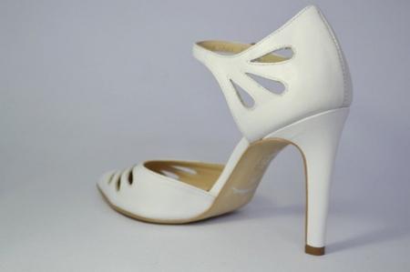 Pantofi Dama Piele Naturala Albi Guban Lenda D006484