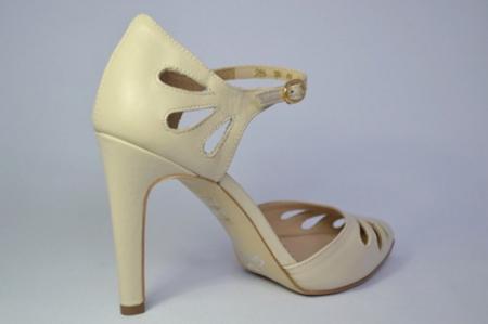 Pantofi Dama Piele Naturala Guban Bej Eliona D006505