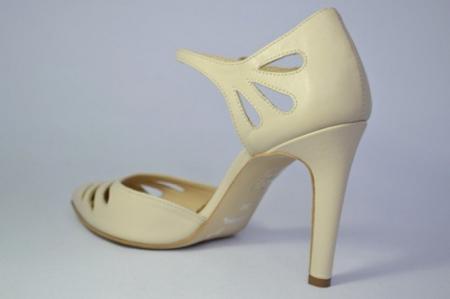 Pantofi Dama Piele Naturala Guban Bej Eliona D006504