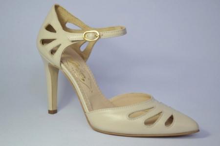 Pantofi Dama Piele Naturala Guban Bej Eliona D006503