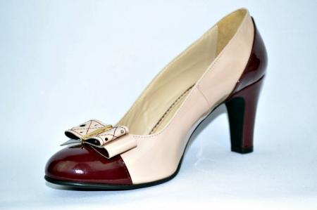 Pantofi cu toc Piele Naturala Guban Nude Vechi D009122