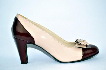 Pantofi cu toc Piele Naturala Guban Nude Vechi D009120