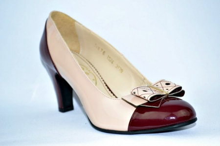 Pantofi cu toc Piele Naturala Guban Nude Vechi D009123