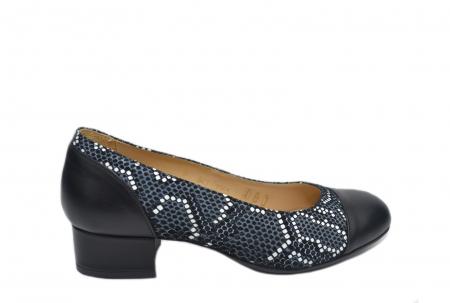 Pantofi cu toc Piele Naturala Negri Guban Bega D021260