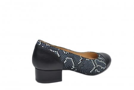 Pantofi cu toc Piele Naturala Negri Guban Bega D021263