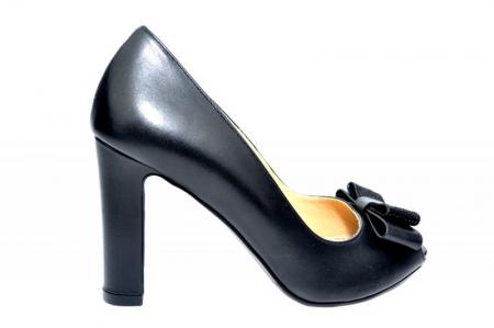 Pantofi cu toc Piele Naturala Negri Guban Bruna D018150