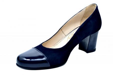 Pantofi cu toc Piele Naturala Bleumarin Guban Evgeniya D017942