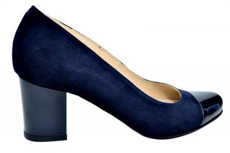 Pantofi cu toc Piele Naturala Bleumarin Guban Evgeniya D017940