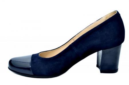 Pantofi cu toc Piele Naturala Bleumarin Guban Evgeniya D017941