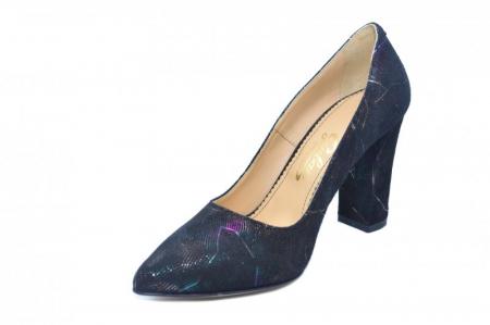 Pantofi cu toc Piele Naturala Negri Guban Hillary D018442
