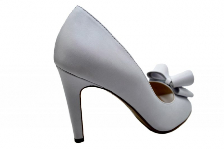 Pantofi Dama Piele Naturala Albi Guban Ivanna D015703