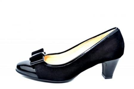 Pantofi cu toc Piele Naturala negri Guban Larissa D018111