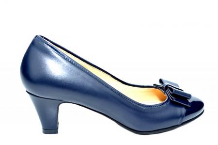 Pantofi cu toc Piele Naturala Bleumarin Guban Larissa D018170