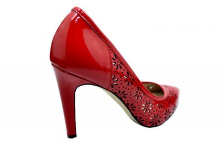 Pantofi cu toc Piele Naturala Rosii Guban Sandra D015743