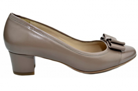 Pantofi cu toc Piele Naturala Crem Guban Stephanie D013580