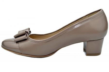Pantofi cu toc Piele Naturala Crem Guban Stephanie D013581