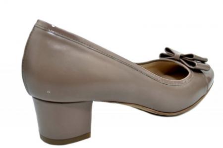 Pantofi cu toc Piele Naturala Crem Guban Stephanie D013583