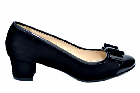 Pantofi cu toc Piele Naturala Negri Guban Stephanie D017590