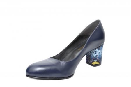 Pantofi cu toc Piele Naturala Bleumarin Moda Prosper Hazel D02025 [1]