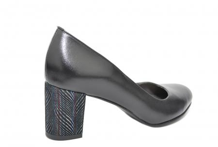 Pantofi cu toc Piele Naturala Negri Moda Prosper Hazel D020701