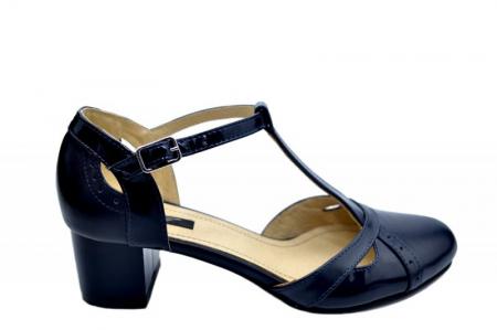 Pantofi Dama Piele Naturala Bleumarin Helene D015790