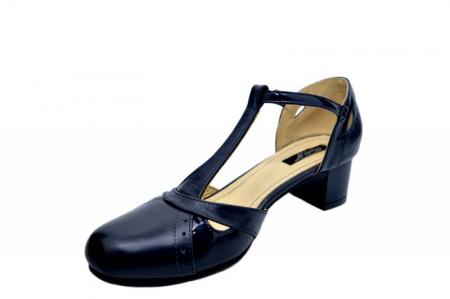 Pantofi Dama Piele Naturala Bleumarin Helene D015792