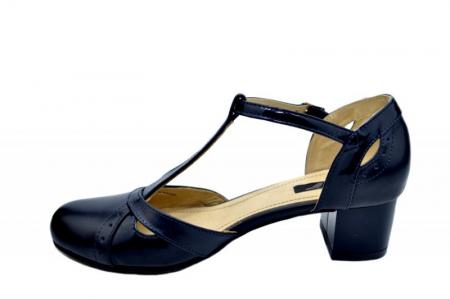 Pantofi Dama Piele Naturala Bleumarin Helene D015791