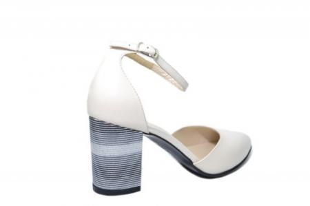 Pantofi Dama Piele Naturala Bej Moda Prosper Iris D02030 [3]