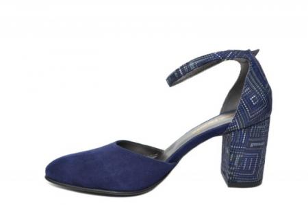 Pantofi Dama Piele Naturala Bleumarin Moda Prosper Iris D02032 [0]
