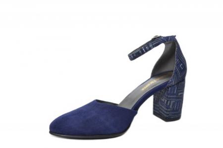 Pantofi Dama Piele Naturala Bleumarin Moda Prosper Iris D02032 [1]