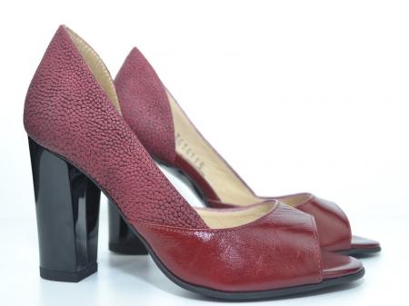 Pantofi cu toc Piele Naturala Grena Ivonna D011516