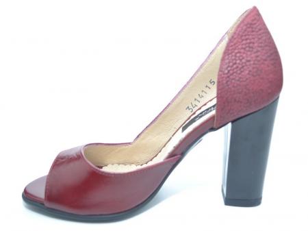 Pantofi cu toc Piele Naturala Grena Ivonna D011511