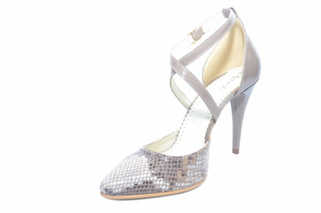 Pantofi Dama Piele Naturala Grej Jayne D018612