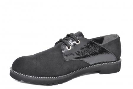 Pantofi Oxford Piele Naturala Negri Jess D020792