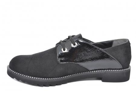 Pantofi Oxford Piele Naturala Negri Jess D020791