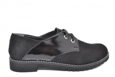Pantofi Oxford Piele Naturala Negri Jess D020790