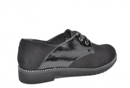 Pantofi Oxford Piele Naturala Negri Jess D020793