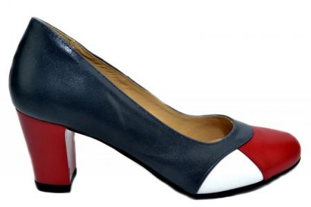 Pantofi cu toc Piele Naturala Bleumarin Joelle D013220