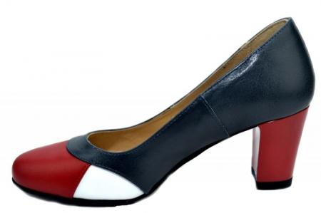 Pantofi cu toc Piele Naturala Bleumarin Joelle D013221
