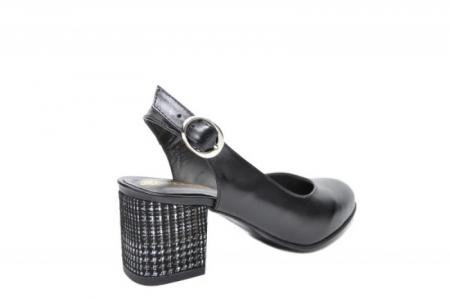 Pantofi Dama Piele Naturala Negri Moda Prosper Kara D020333