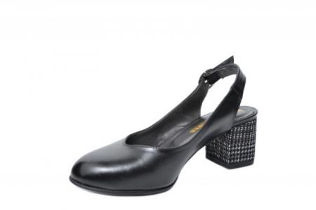 Pantofi Dama Piele Naturala Negri Moda Prosper Kara D020332