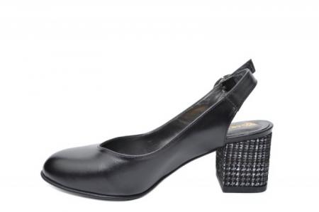 Pantofi Dama Piele Naturala Negri Moda Prosper Kara D020331