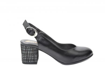 Pantofi Dama Piele Naturala Negri Moda Prosper Kara D020330