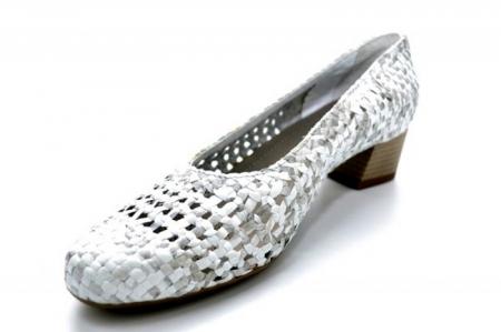 Pantofi cu toc Piele Naturala Gri Ara Katya D011383