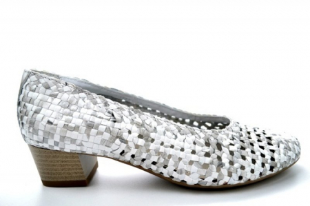 Pantofi cu toc Piele Naturala Gri Ara Katya D011380