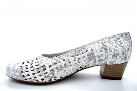 Pantofi cu toc Piele Naturala Gri Ara Katya D011381