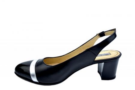 Pantofi Dama Piele Naturala Negri Kelsey D015651