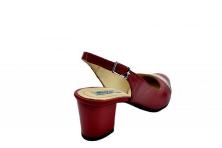 Pantofi Dama Piele Naturala Rosii Kelsey D01567 [3]