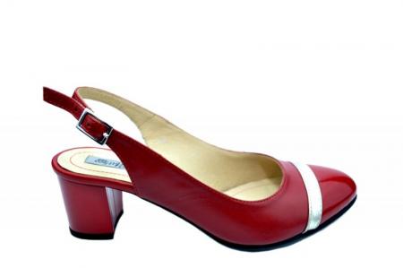 Pantofi Dama Piele Naturala Rosii Kelsey D01567 [0]