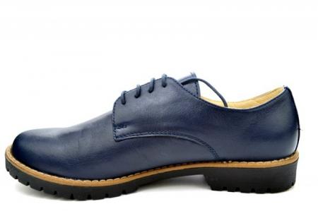 Pantofi Casual Piele Naturala Bleumarin Kristine D011131